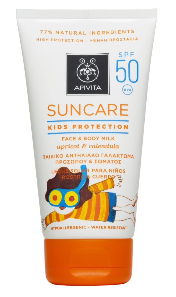 APIVITA-KIDS-PROTECTION-FACEBODY-MILK-SUNCARE-SPF50